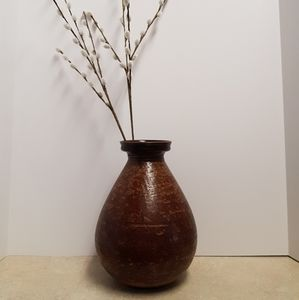 Large Brown Pottery Vase